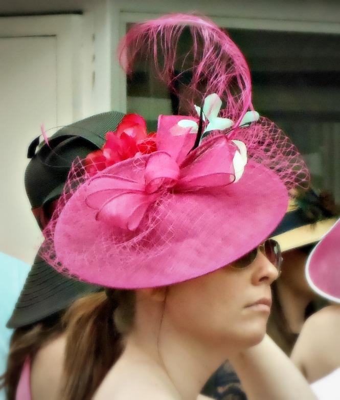 small fuschia hat