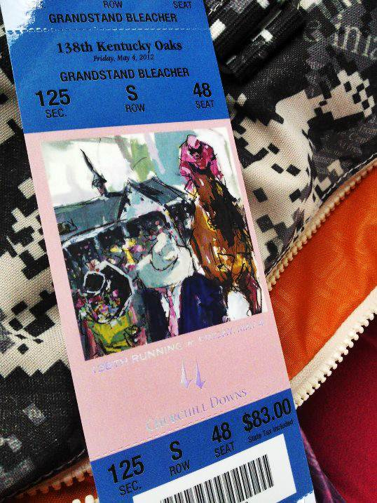 Kentucky Oaks 2012 ticket