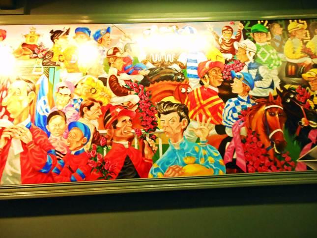 Peb Bellocq jockey mural
