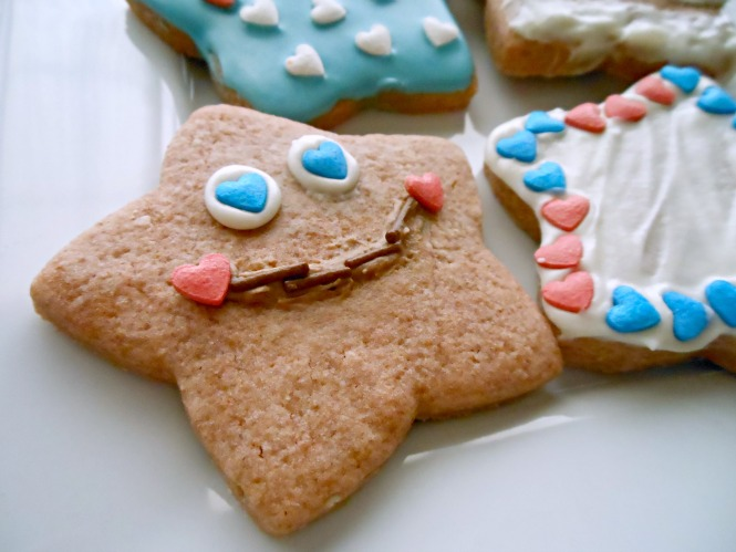4th of July Happy Face Cookie