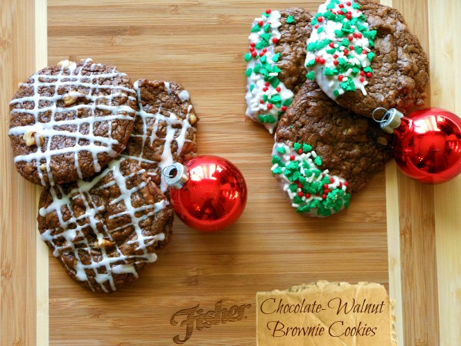 Chocolate Walnut Brownie Cookies