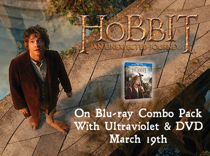 The Hobbit: An Unexpected Journey Blog App and Blu-ray