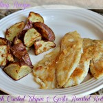Clean Eating Recipe: Horseradish Crusted Tilapia & Garlic Roasted Red Potatoes