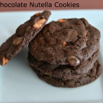 Triple Chocolate Nutella Tailgating Cookies