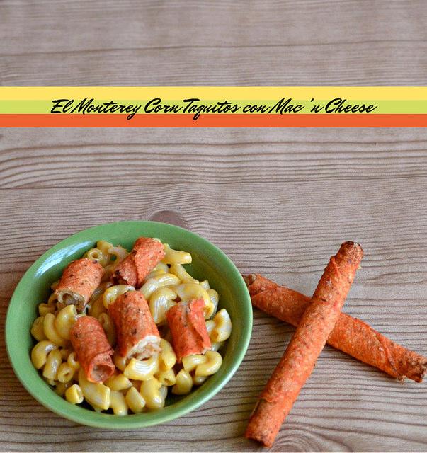 El Monterey Corn Taquito con Mac & Cheese