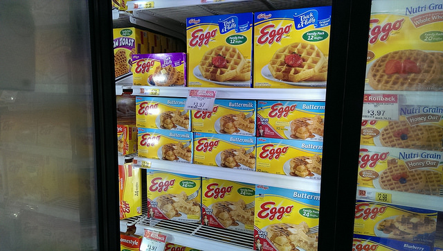 Eggos available at Walmart.  Look for specially marked 24 ct. packages to save $5.00 on Disney's FROZEN DVD.