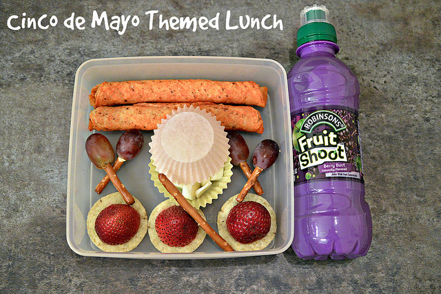 Cinco de Mayo themed bento lunch for kids