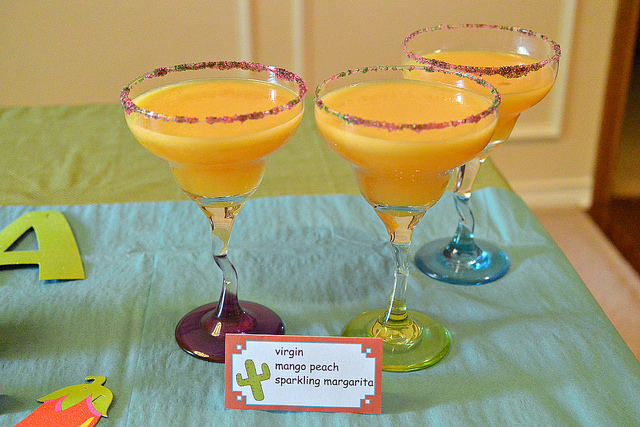 virgin mango peach sparkling margarita