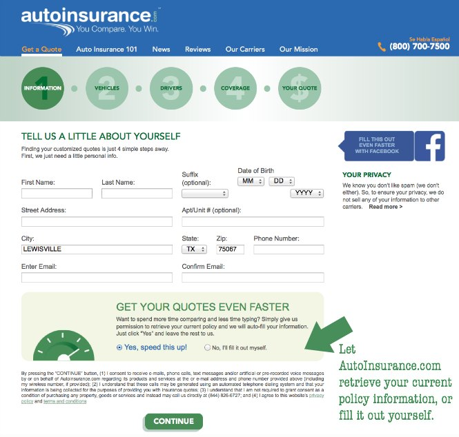 Car Insurance Shopping At Home