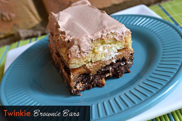 Twinkie Brownie Bars