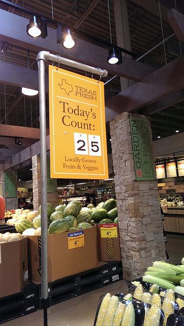 Locally grown fruits & veggies - Market Street DFW