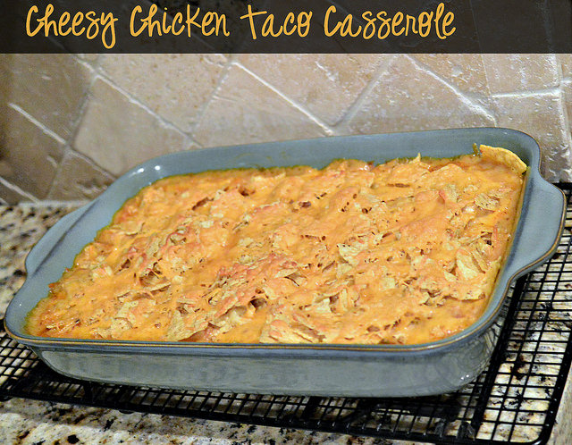 cheesy chicken taco casserole pan #fooddeservesdelicious #shop