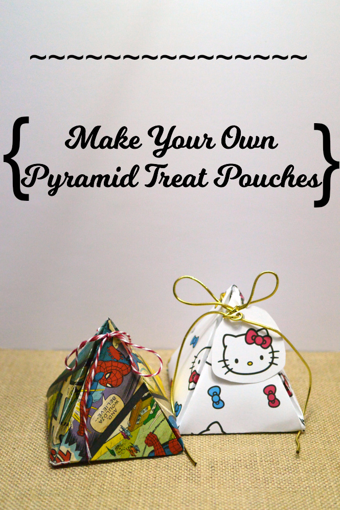 make your own pyramid treat pouches