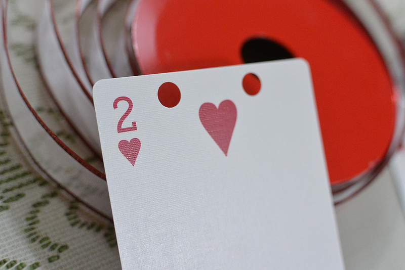 Hole Punch Cards for Heart Garland