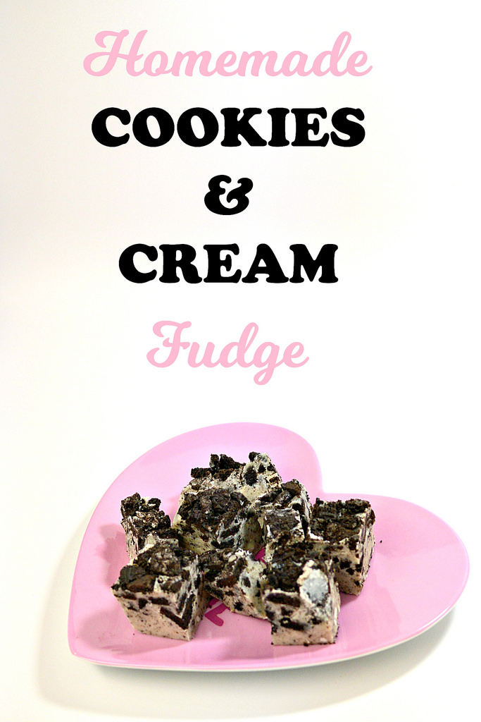 Homemade Cookies & Cream Fudge