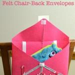 DIY Felt Valentine's Chair Back Envelopes