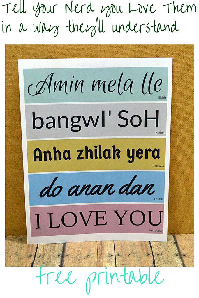 Nerd Love Language