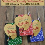You're the Write Stuff Valentine – Free Silhouette File & Printable