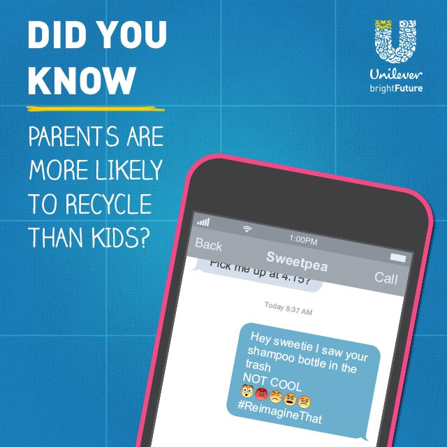Did you know parents are more likely to recycle than kids?