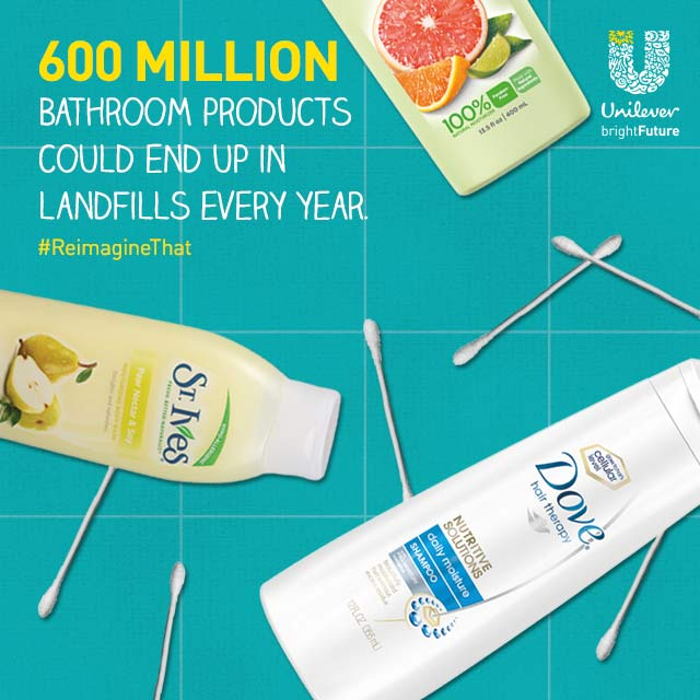 600 million bathroom products could end up in landfills each year.  #ReimagineThat