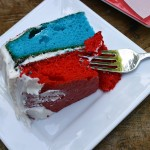Easiest 4th of July Layered Cake