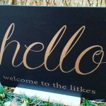 'hello' Personalized Welcome Sign