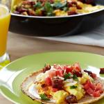 Chorizo Scrambled Egg Breakfast Taco