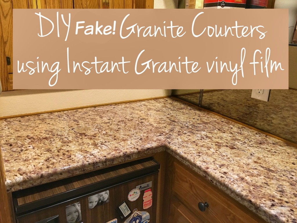 Diy Fake Granite Counter