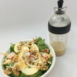 Apple & Walnut Flavorful Salad with Spicy Mustard Dressing