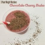 Weight Watchers Chocolate Cherry Shakes - 3 points