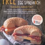#GetEgged for FREE and Help Provide a Meal for a Child at Einstein Bros. on August 16
