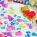 Sponge Art Wrapping Paper