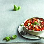 Lasagna in a Soup Bowl from the new Recipe Book: Stock the Crock