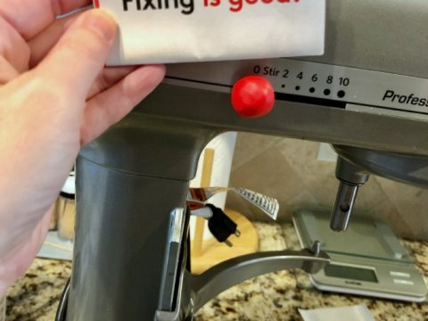 fixing a kitchenaid speed control knob