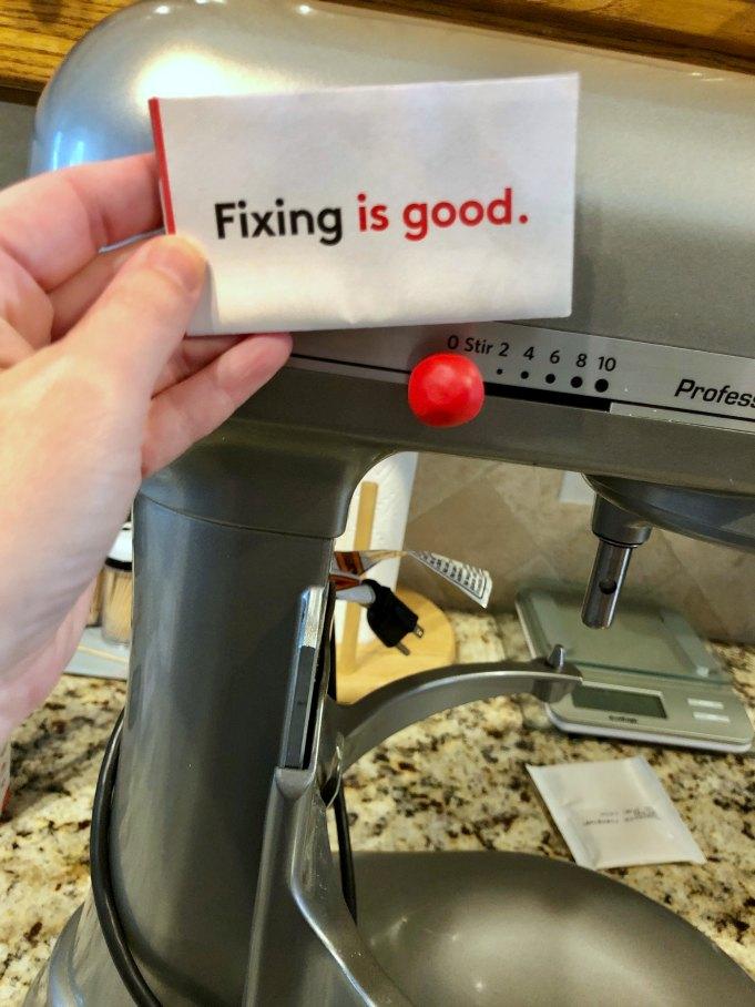 fixing a kitchenaid speed control knob