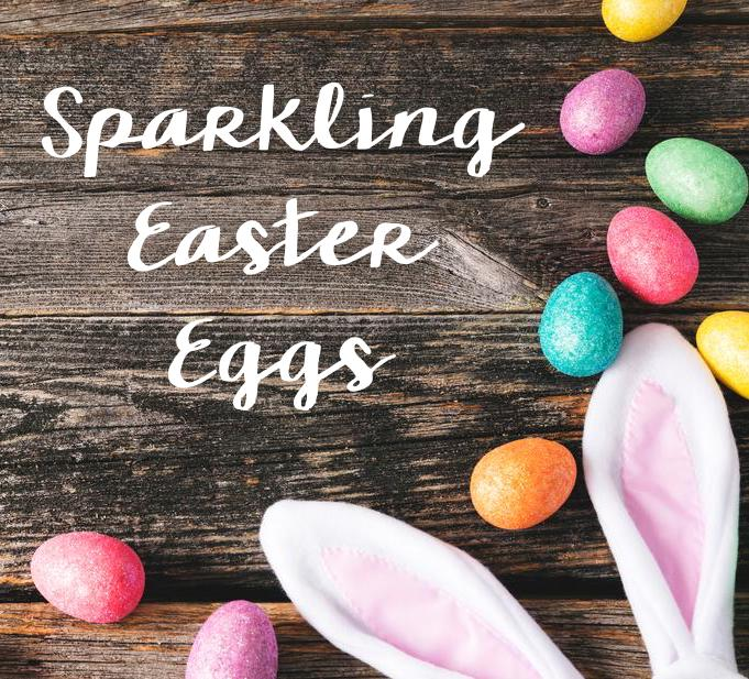 sparkling easter eggs