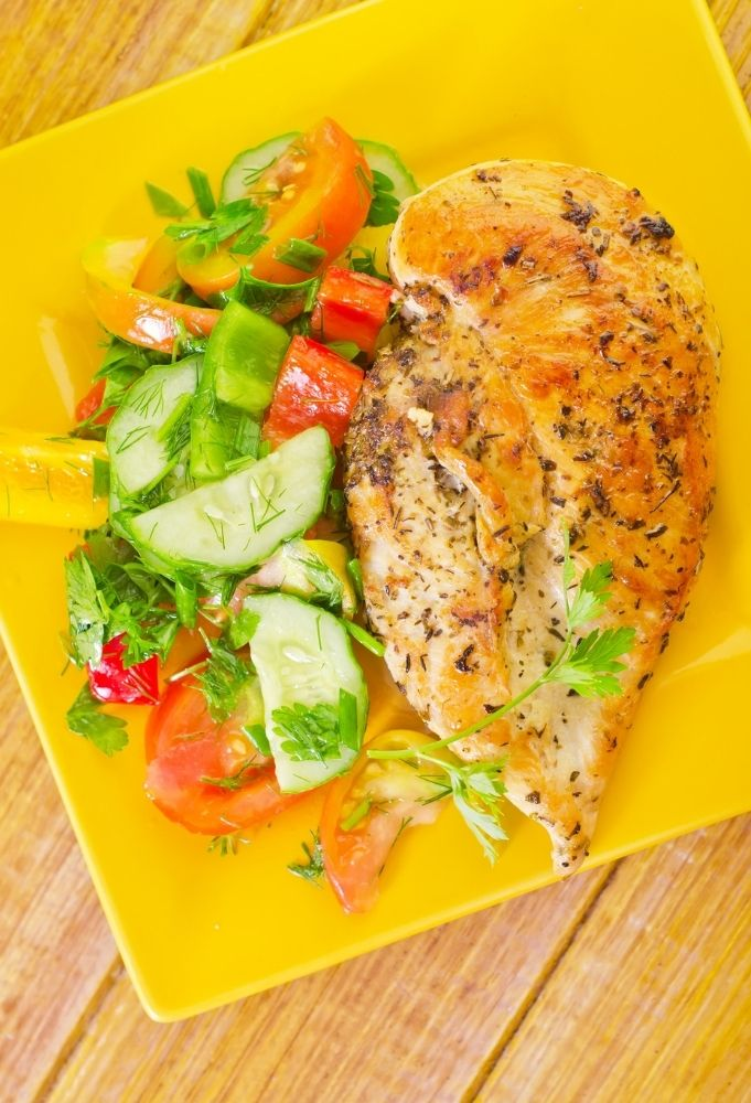 grilled chicken with herbes
